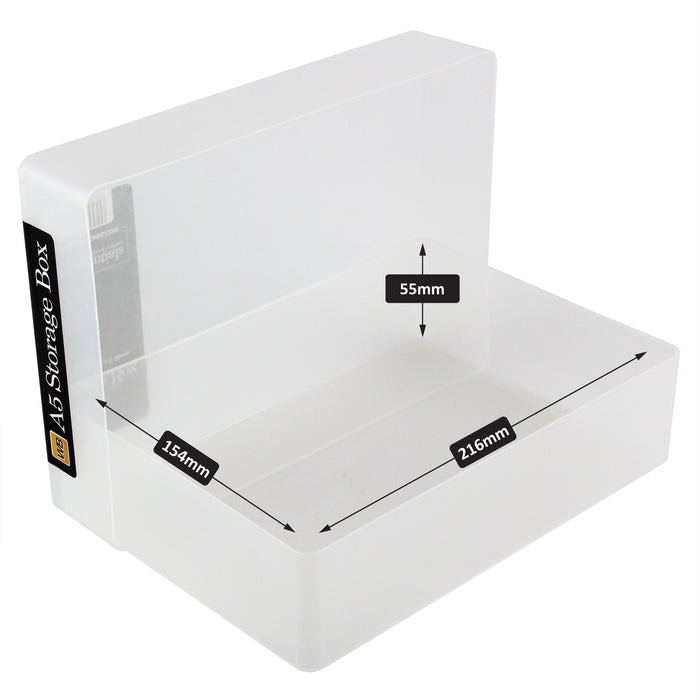 A5 Plastic Storage Box (5-pack)