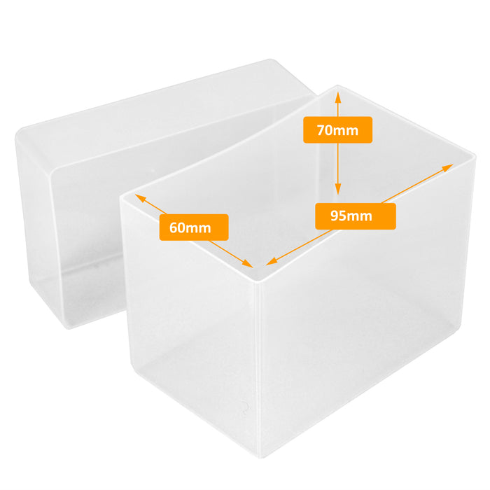 Clear / Transparent, WestonBoxes 70mm Deep Business Card Box