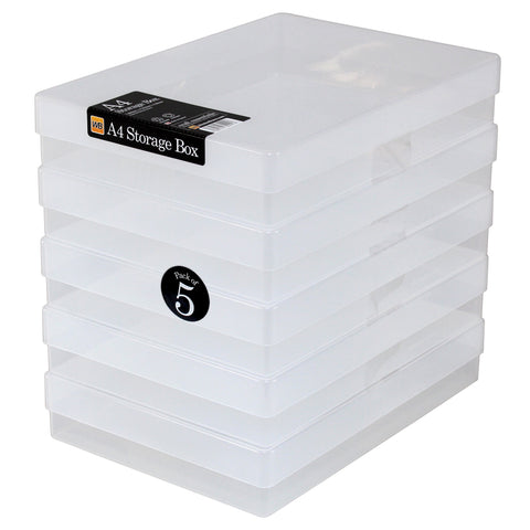 WestonBoxes - A4 Plastic Storage Box - Clear