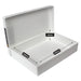 westonboxes a4 plastic storage box tough white