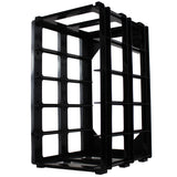 A5 box stak paper craft storage unit black plastic