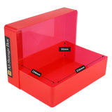 A5 box stak paper craft storage unit red plastic