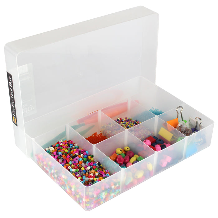 Crafty Tool Box, Storage Box With Fixed Dividers