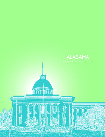 Alabama State Capitol Skyline Art
