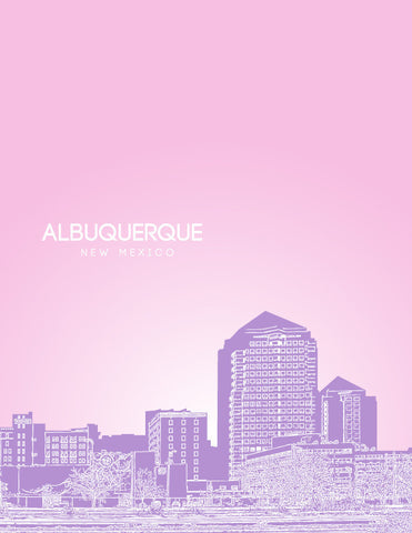 Albuquerque NM Skyline Poster
