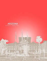 Arizona State Capitol Skyline Art