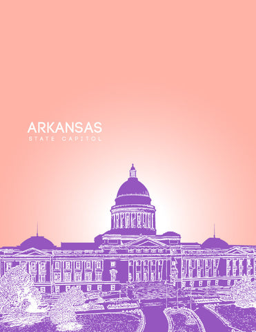 Arkansas State Capitol Skyline Art