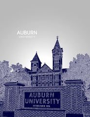 Auburn University Skyline Poster