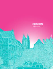 Boston University Skyline Posters