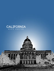 California State Capitol Skyline Art