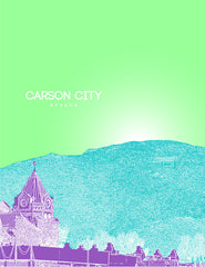 Carson City Nevada Skyline Poster