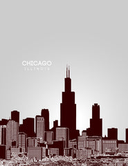 Chicago Illinois Skyline Posters