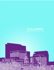 Columbia South Carolina Skyline Poster