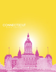 Connecticut State Capitol Skyline Art