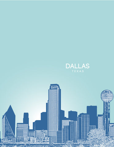 Dallas Texas skyline posters