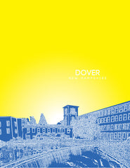 Dover New Hampshire Skyline Poster