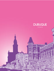 Dubuque Iowa Skyline Poster