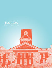 Florida State Capitol Skyline Art
