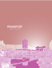Frankfort Kentucky Skyline Poster