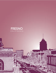 Fresno California Skyline Poster