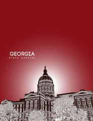 Georgia State Capitol Skyline Art