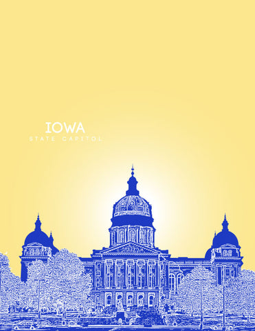 Iowa State Capitol Skyline Art