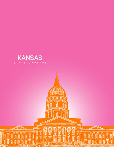 Kansas State Capitol Skyline Art