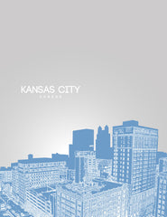 Kansas City Missouri Skyline Poster