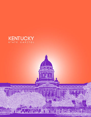 Kentucky State Capitol Skyline Art