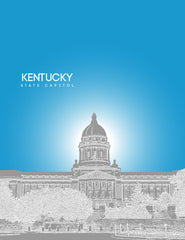 Kentucky State Capital Poster