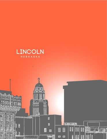 Lincoln Skyline Poster