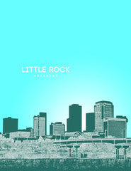 Little Rock Arkansas Skyline Poster