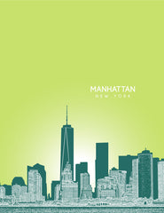 Manhattan New York Skyline Poster