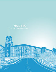 Nashua New Hampshire Skyline Poster