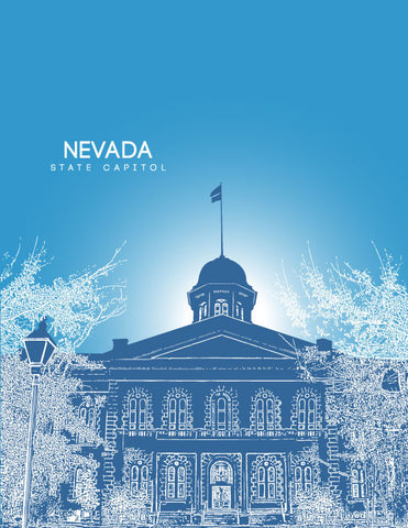 Nevada State Capitol Skyline Art