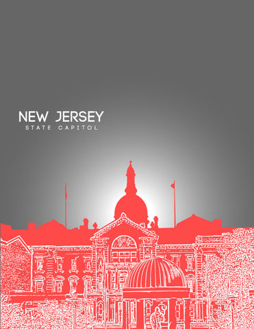 New Jersey State Capitol Skyline Art