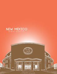New Mexico State Capitol Skyline Art