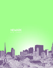 Newark New Jersey Skyline Poster