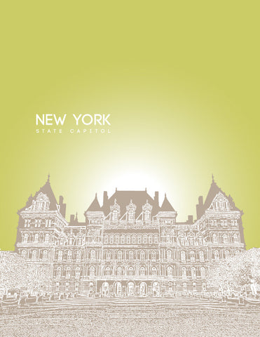 New York State Capitol Skyline Art