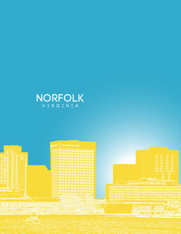 Norfolk Skyline Poster