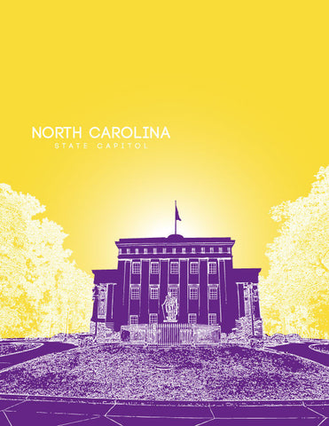North Carolina State Capitol Skyline Art