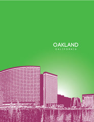 Oakland California Skyline Poster
