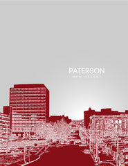 Paterson New Jersey Skyline Poster
