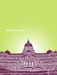 Pennsylvania State Capitol Skyline Art
