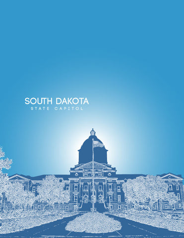 South Dakota State Capitol Skyline Art