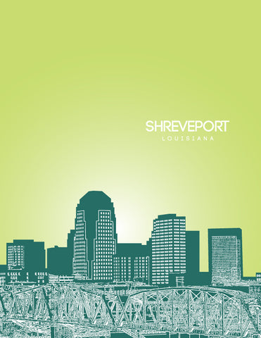 Shreveport Skyline Poster