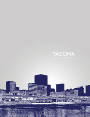 Tacoma Washington Skyline Poster