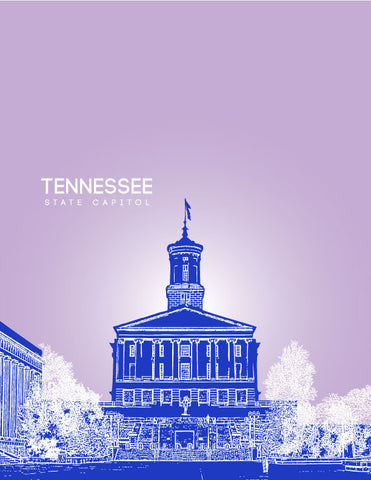 Tennessee State Capitol Skyline Art