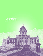 Vermont State Capitol Skyline Art