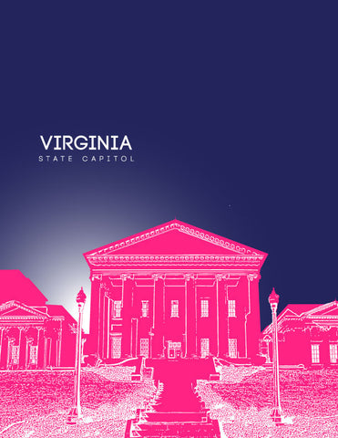 Virginia State Capitol Skyline Art